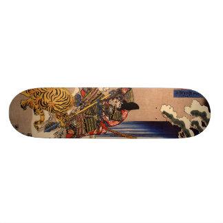 Samurai fighting Tiger Board Skate Board