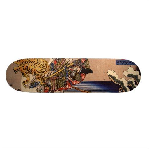 Samurai fighting Tiger Board Skate Decks