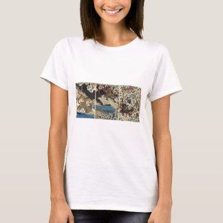 Samurai fighting tiger etc. circa 1800's T-Shirt