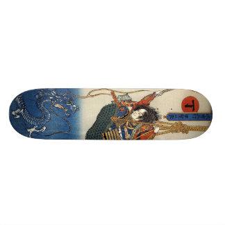 Samurai Fighting Water Dragon Board Skateboards