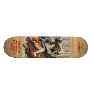 Samurai Fights Mythological Beast Skateboard