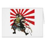 Samurai Flag Greeting Card