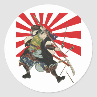Samurai Flag Sticker
