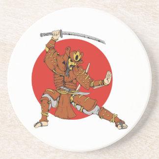 Samurai Getränkeuntersetzer