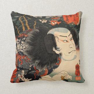 Samurai, guerrero japonés almohada