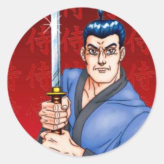 Samurai Guy Classic Round Sticker