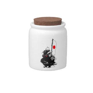 Samurai Hedgehog Candy Dishes