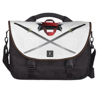 Samurai Helmet and Swords Commuter Bag