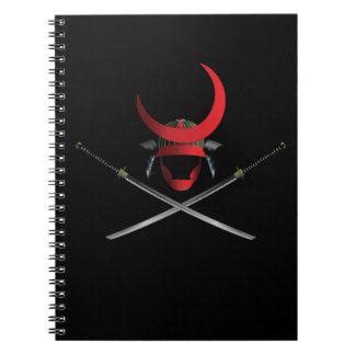 Samurai Helmet and Swords Notebooks