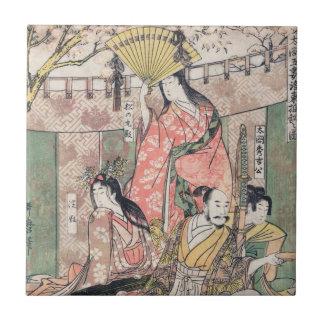 Samurai Hideyoshi and Wives Kitagawa Utamaro Ceramic Tile