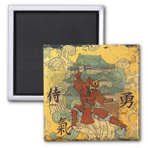 Samurai Imán Cuadrado