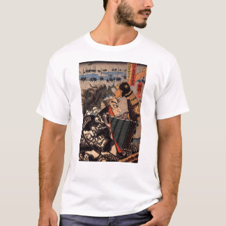 Samurai in beautiful dragon armor, c. 1800's T-Shirt