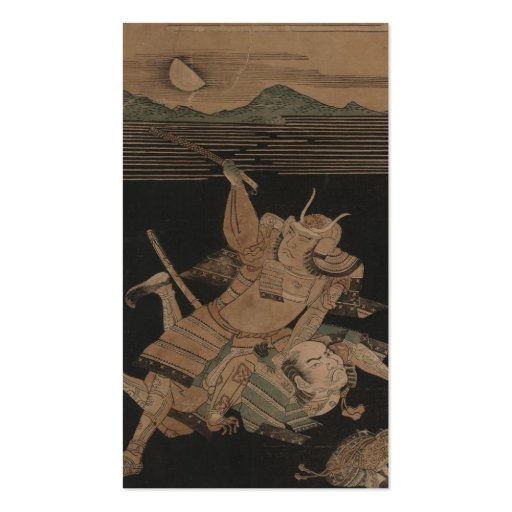 Samurai in Combat at Night circa 1770 Double-Sided Standard Business Cards (Pack Of 100)
