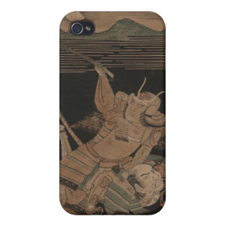 Samurai in Combat at Night circa 1770 Case For iPhone 4