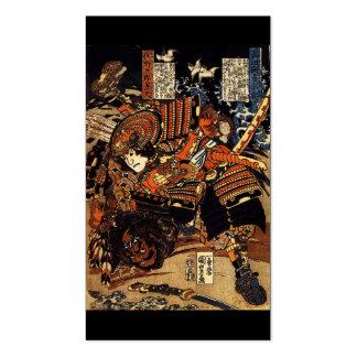 Samurai in Combat, circa 1800's Business Card.