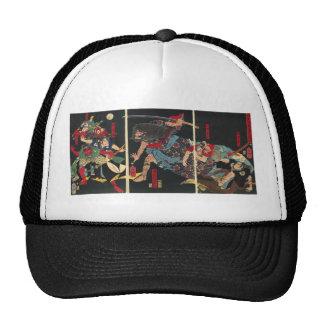 Samurai in Combat painting. circa 1860 Trucker Hat