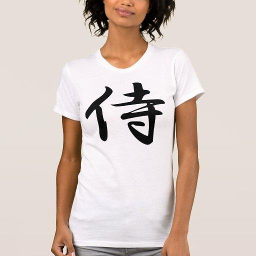 Samurai in Japanese Kanji Tshirts