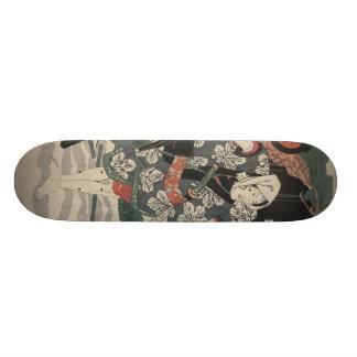 Samurai in the Snow in Japan circa 1825 Skateboard Deck