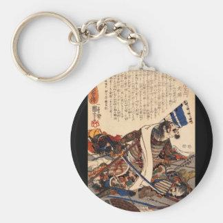 Samurai in War, circa 1800's Keychain
