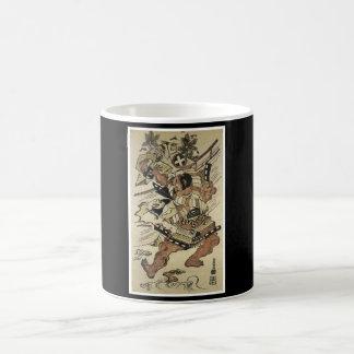 Samurai Japanese Art cup c. 1717 Painting