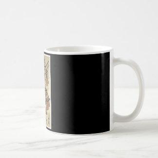 Samurai Japanese Art cup c. 1717 Painting Coffee Mugs