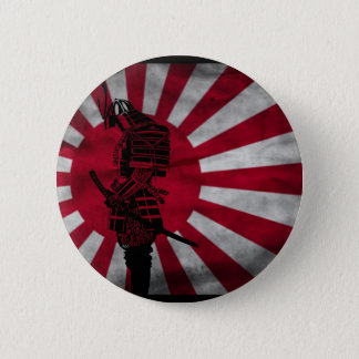 Samurai Japanese flag Button
