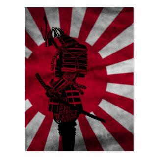 Samurai Japanese flag Postcard