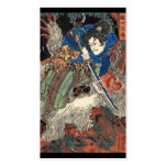 Samurai Japanese Painting c. 1800's Double-Sided Standard Business Cards (Pack Of 100)