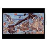 Samurai Japanese Painting c. 1800's Greeting Cards