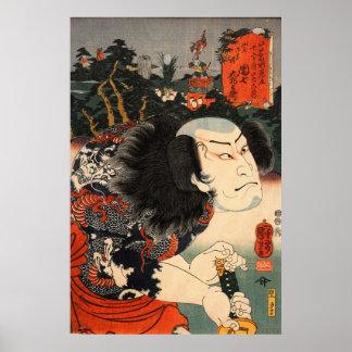 Samurai japonés impresiones