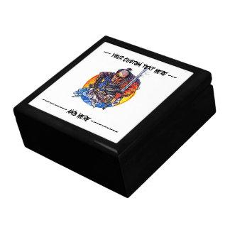 Samurai japonés Katana del dibujo animado del símb Caja De Regalo