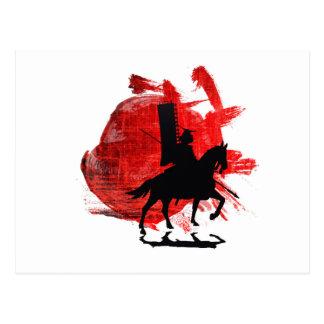 Samurai japonés tarjetas postales