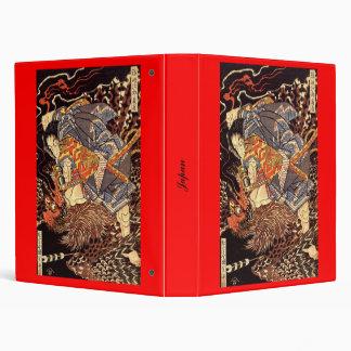 Samurai killing Tengu/bird Painting, c. 1800's Binder