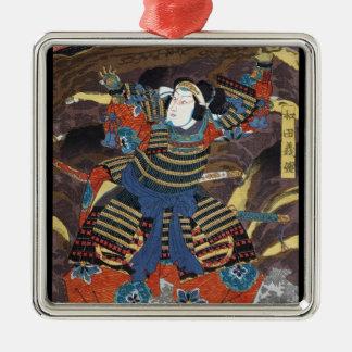 Samurai legendario japonés oriental fresco del ornato