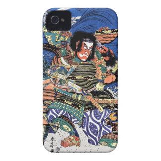 Samurai legendario japonés oriental fresco del funda para iPhone 4