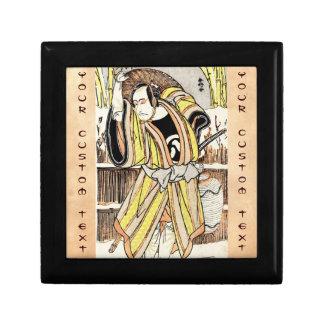 Samurai legendario japonés oriental fresco del gue cajas de joyas