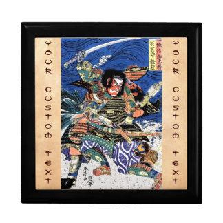 Samurai legendario japonés oriental fresco del gue caja de regalo