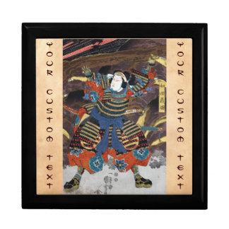 Samurai legendario japonés oriental fresco del gue cajas de regalo