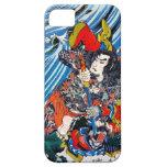 Samurai legendario japonés oriental fresco del hér iPhone 5 Case-Mate carcasas
