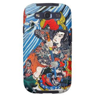 Samurai legendario japonés oriental fresco del hér samsung galaxy s3 protectores