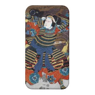 Samurai legendario japonés oriental fresco del iPhone 4/4S fundas