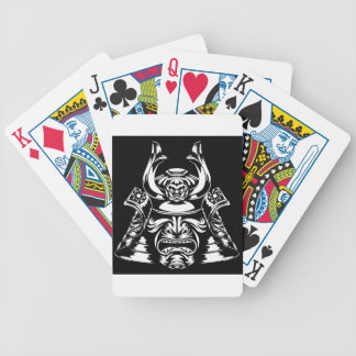 Samurai Mask and Helmet Bicycle Playing Cards
