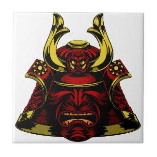Samurai Mask Helmet Ceramic Tile