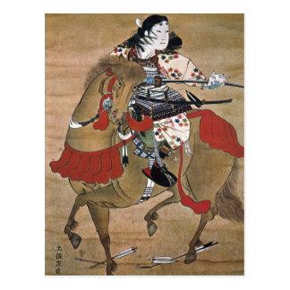 Samurai montado tarjetas postales