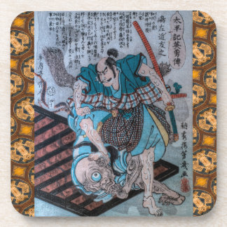 Samurai Of Feudal Japan  VII Beverage Coaster