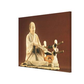 Samurai, Okinomo, período de Edo Lona Envuelta Para Galerías