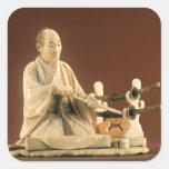 Samurai, Okinomo, período de Edo Pegatina Cuadrada