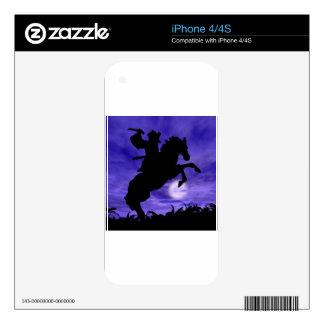 Samurai on Horse iPhone 4S Decal