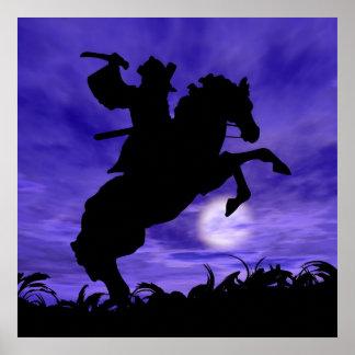 Samurai on Horse Poster