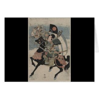 Samurai on Horseback circa early 1800s Cards